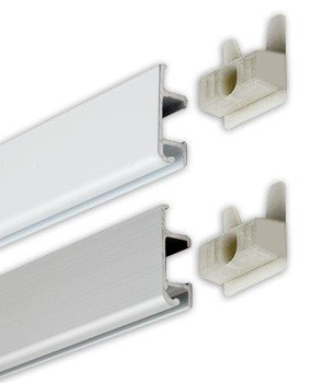 Slimline Track - 2m and wall anchor