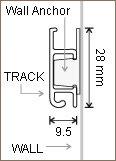 Slimline Track - 2m and wall anchor explained